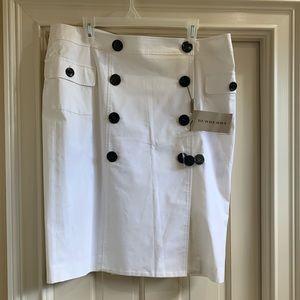 Burberry cream safari style wrap skirt 14